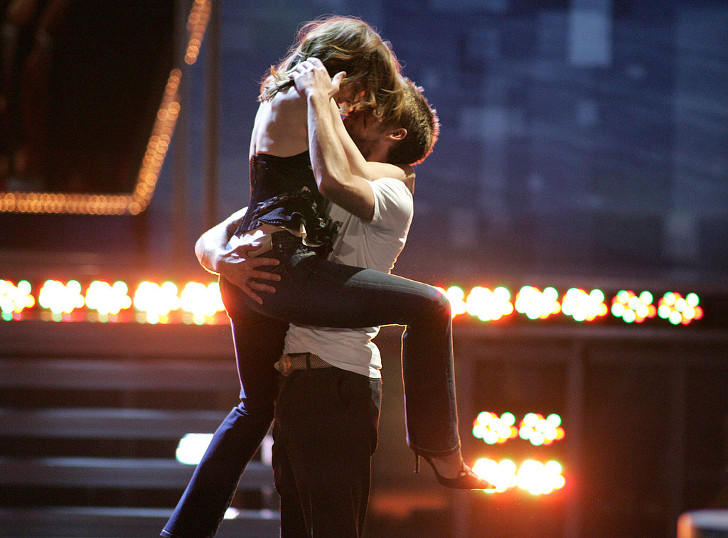 Rachel McAdams and Ryan Gosling shared a passionate moment after winning best kiss for The Notebook at the 2005 show.