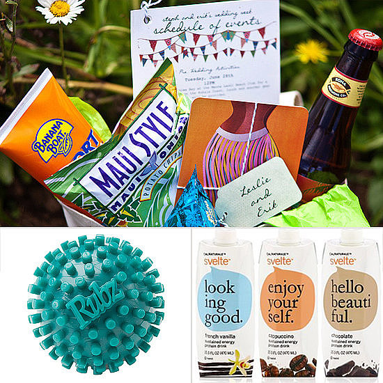 Leave traditional welcome baskets to other brides — give your guests a healthy welcome with POPSUGAR Fitness's creative additions.