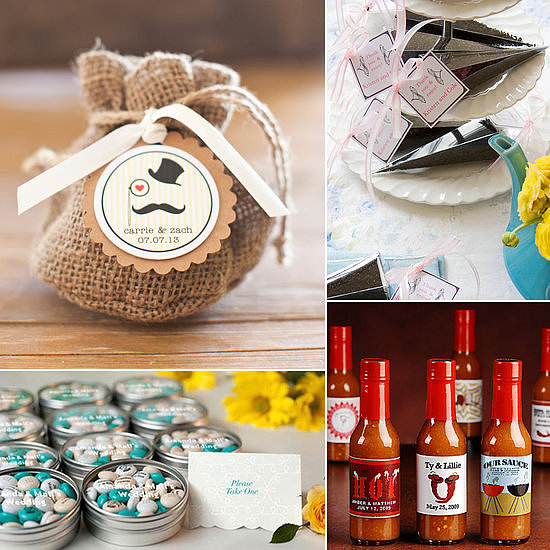 If you believe in the adage that food is love, then express your appreciation for guests in that vein: with a delectable edible wedding favor. Head over to POPSUGAR Food for their favorite picks from custom chocolate bars to zesty bottles of hot sauce and more.