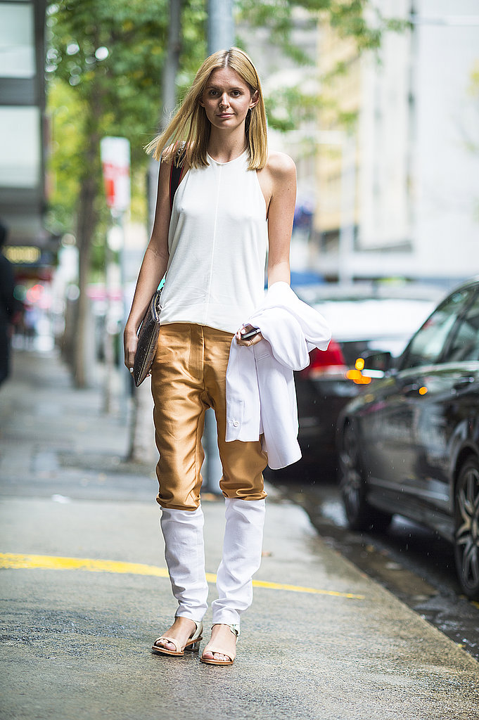 This look was all about the statement-making bottoms. Source: Le 21ème | Adam Katz Sinding