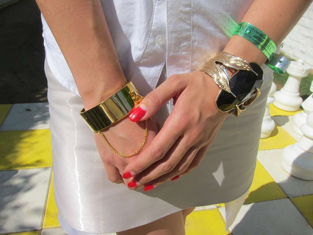 An Eddie Borgo cuff fuses high-end luxe and street-savvy style.
