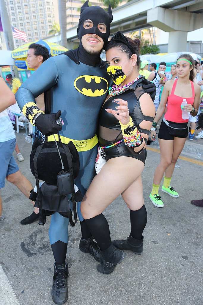 This couple donned Batman costumes for the Ultra Music Festival in Miami.