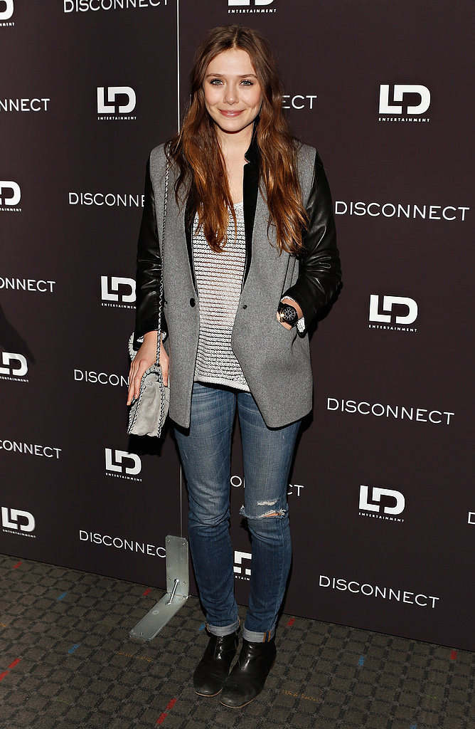 Elizabeth Olsen attended a special screening of new movie, Disconnect, in New York City on April 8.