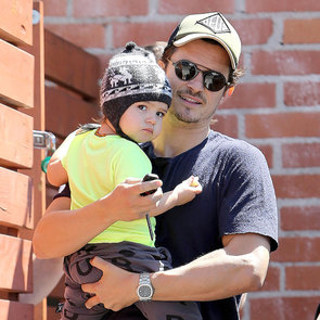 Miranda Kerr With Orlando Bloom and Flynn Pictures in LA