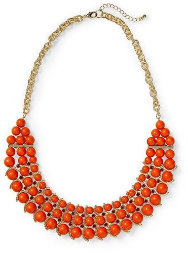 Pim + Larkin Three Row Beaded Statement Necklace