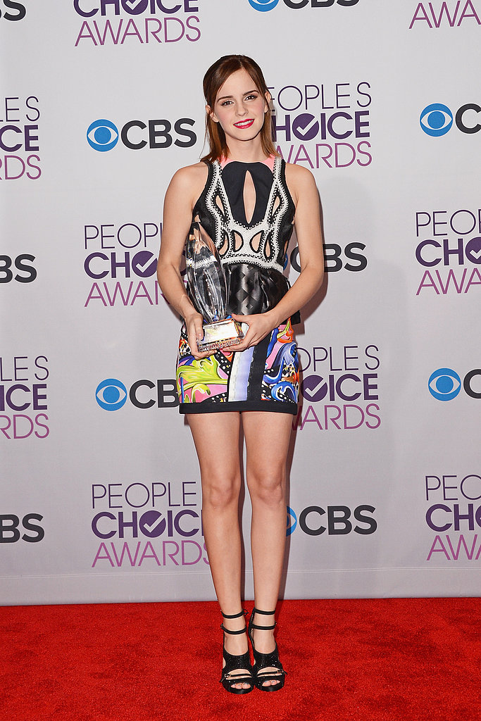 Emma Watson was all legs in this sexy Peter Pilotto cutout minidress at the People's Choice Awards in January.