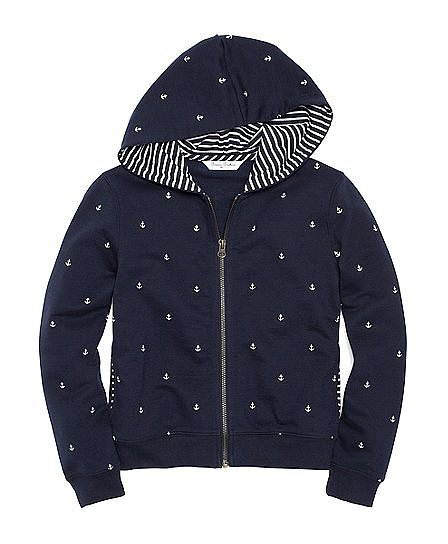 Brooks Brothers makes even a hoodie ($70) look posh and pulled together, as is evidenced in this adorable zip-up.
