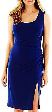 Solid Sheath Dress with Slit