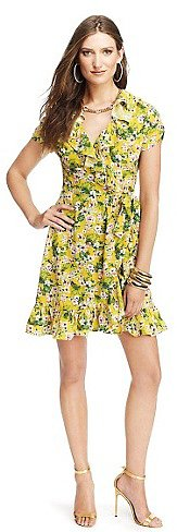 Floral Crepe Wrap Dress