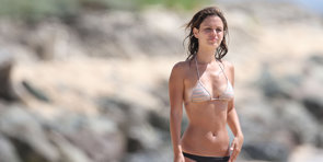 Rachel Bilson Monkeys Around With Friends in Barbados