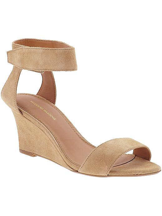 Madison Harding's Shavonne wedge sandal ($155) is a great option if you're looking for a slightly lower heel height.