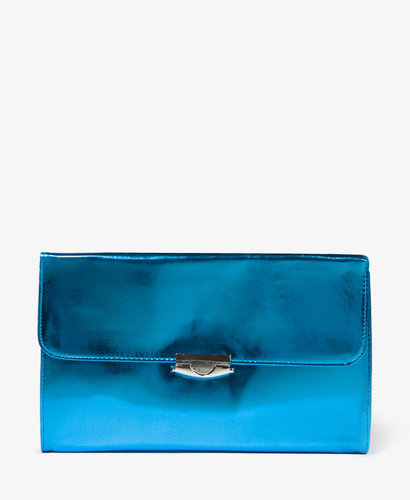 FOREVER 21 Patent Leatherette Clutch