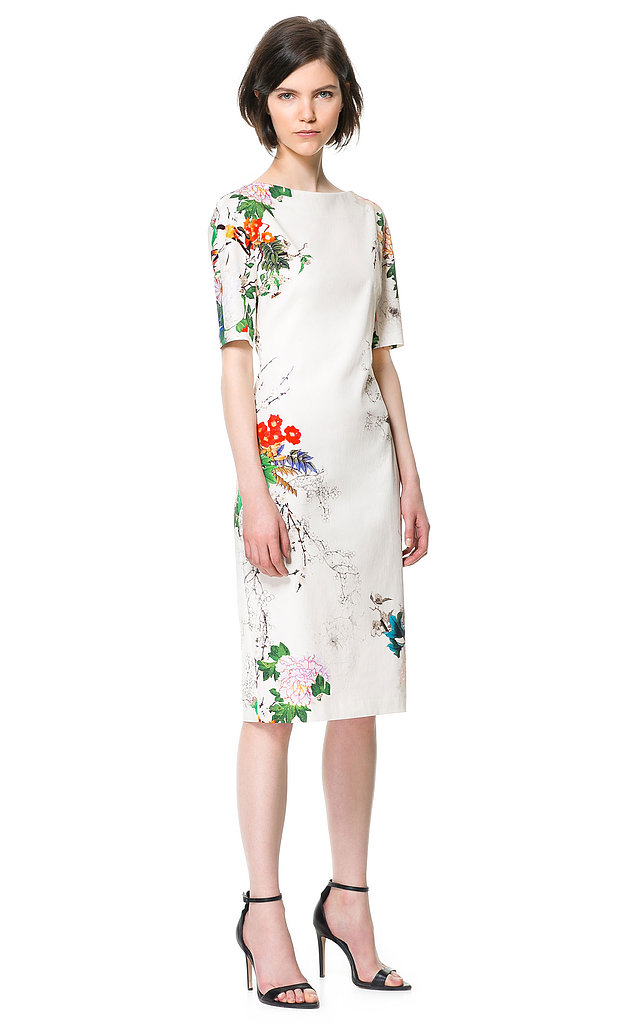 Zara's printed sheath ($90) offers the most sophisticated take on florals to wear to your next garden party — and beyond.