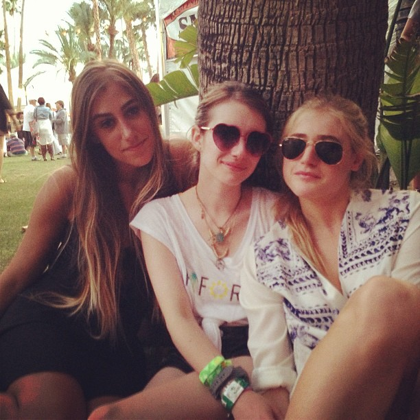 Emma Roberts hung out with friends in Indio, CA, for Coachella. Source: Instagram user emmaroberts6