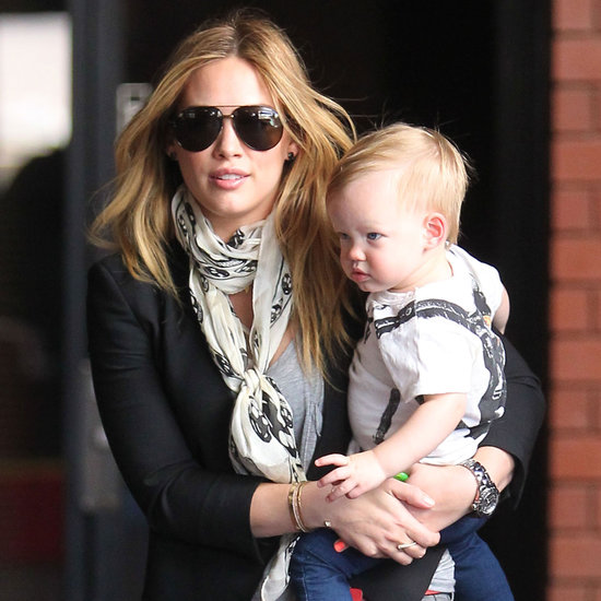 Hilary Duff and Luca in LA During True Book Promotions