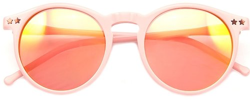 Wildfox Sun Steff Mirror Sunglasses in Pink
