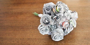 Wedding DIY: Homemade Newspaper Toss Bouquet