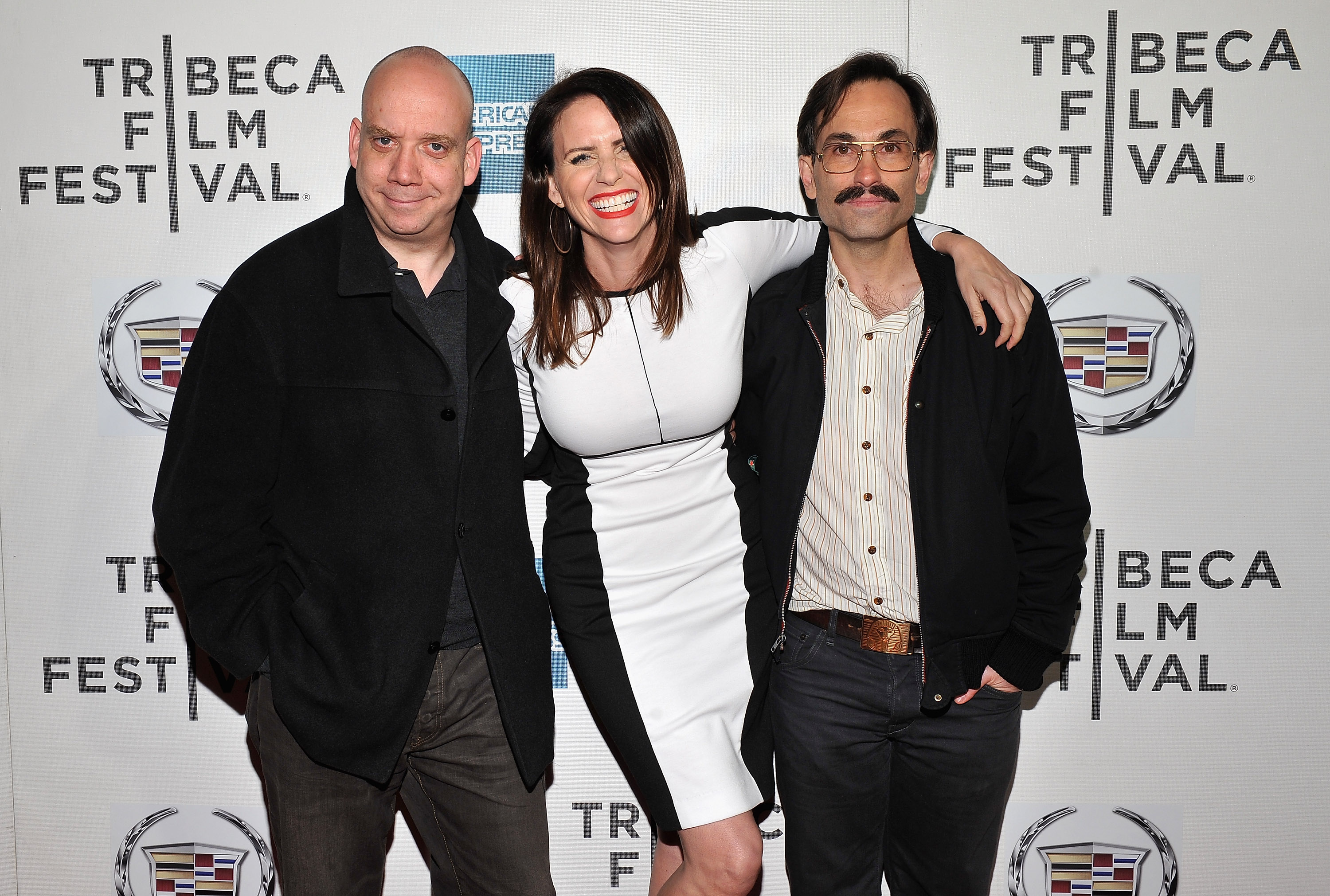 Paul Giamatti posed with Amy Landecker and director Phi
