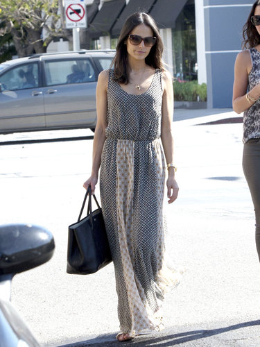 Jordana Brewster's printed maxi dress was the perfect Spring style for a sunny day in LA.