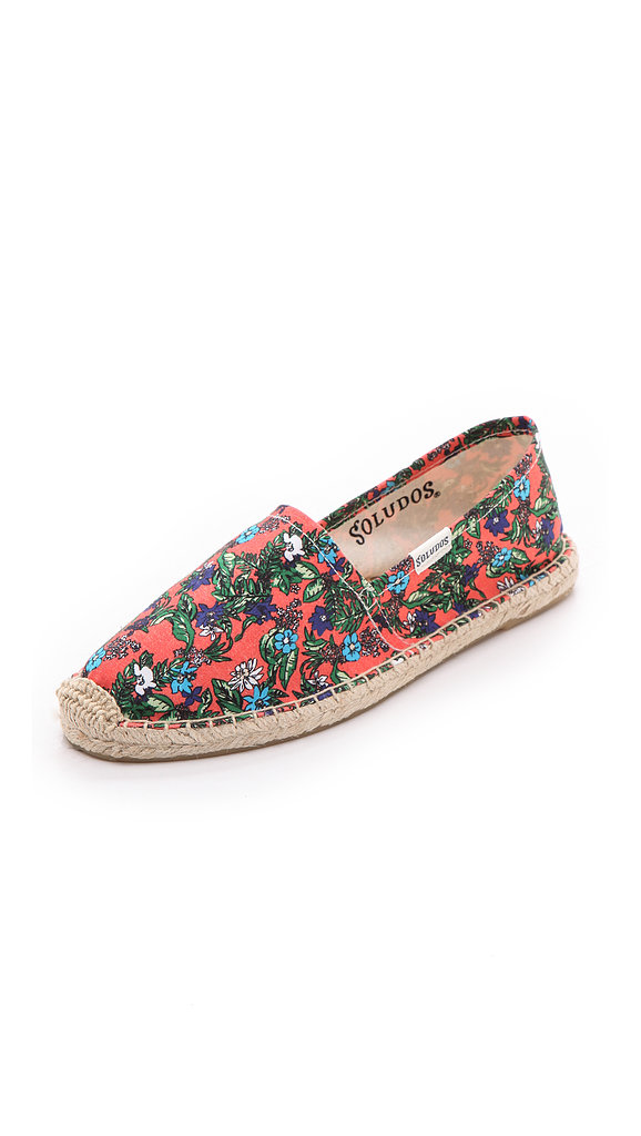 Don't forget to bring along a pair of flat espadrilles for staying comfy while walking on cobblestone streets — we're smitten with these Soludos Vivid Tropical Espadrilles ($42).