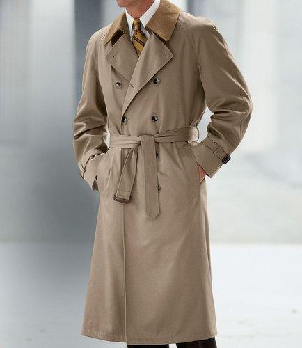 Double-Breasted Raincoat- Sizes 44-52