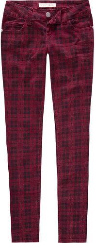 ALMOST FAMOUS Premium Plaid Womens Skinny Pants