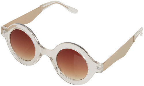 Metal Arm Round Sunglasses