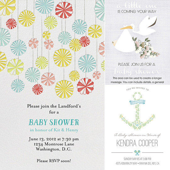 Save Those Stamps! The Sweetest Digital Baby Shower Invites