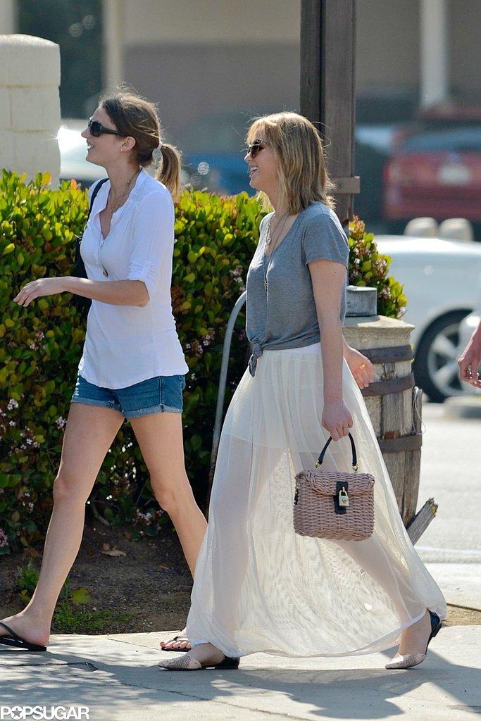 Jennifer Lawrence grabbed brunch with friends in LA.