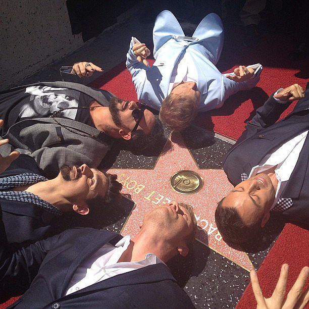 The Backstreet Boys celebrated their star on the Hollywood Walk of Fame. Source: Instagram user backstreetboys