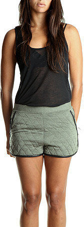 3.1 Phillip Lim Quilted Shorts in Army Green