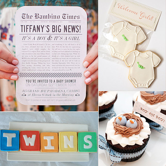 twin baby shower favor ideas on different baby shower ideas for twins