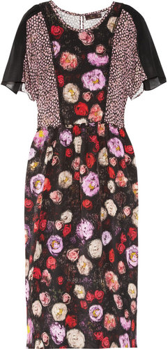Mulberry Floral-print silk midi dress