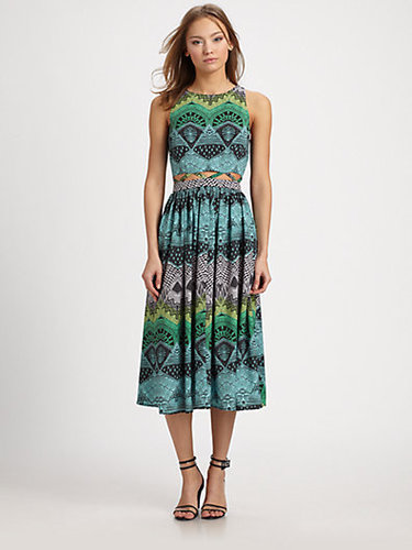Mara Hoffman Lattice-Cutout Midi Dress