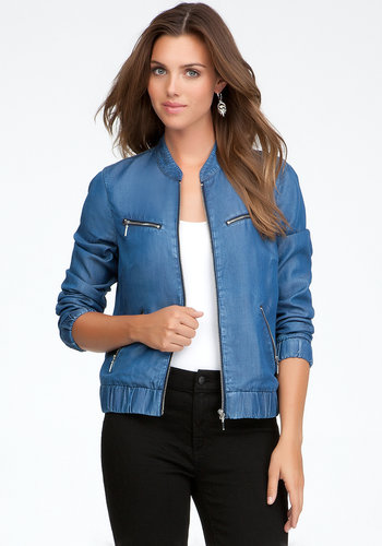 Lightweight Denim Bomber Jacket