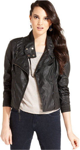 Levi's® Juniors Jacket, Faux-Leather Bomber