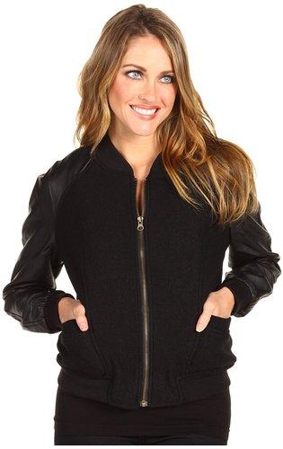 Sanctuary - Varsity Jacket (Black) - Apparel