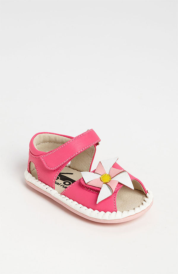 What screams Spring more than a pastel pinwheel? See Kai Run's Alanna sandals ($46) are ready for the new season — and sure to stay on little feet— thanks to a sturdy velcro strap.