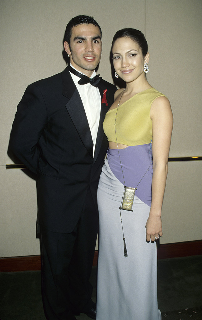 Jennifer Lopez married her first husband, Cuban actor Ojani Noa, in February 1997, but their marriage lasted less than a year.<br /><br />