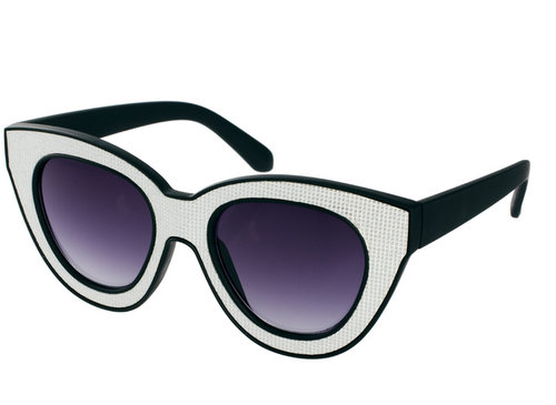 Quay Black & White Square Sunglasses