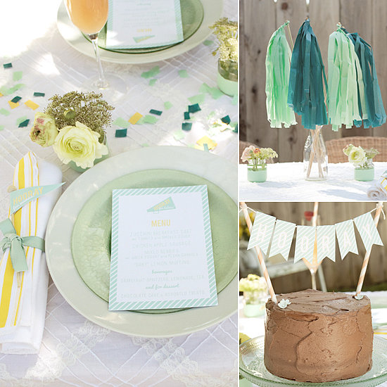 "A Minty Fresh ""Hooray For Baby"" Shower"