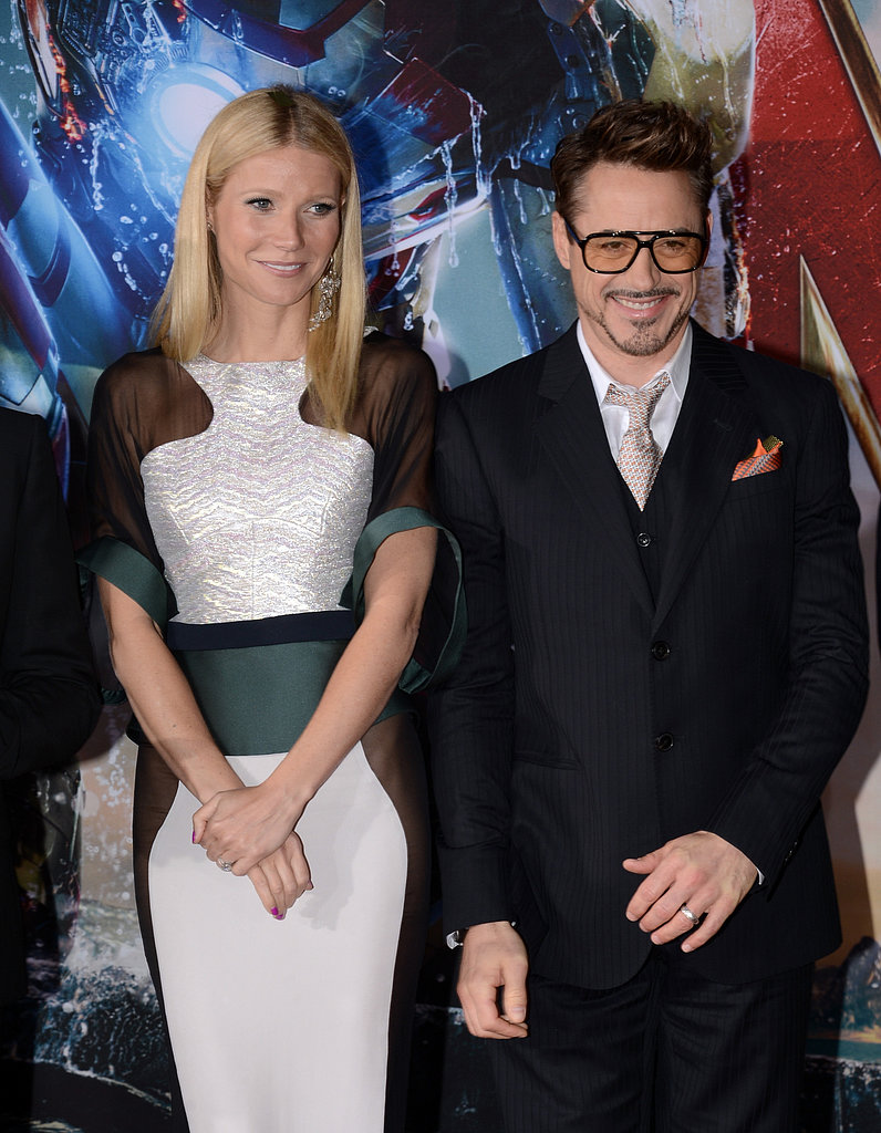 Gwyneth Paltrow and Robert Downey Jr. posed together on the red carpet.