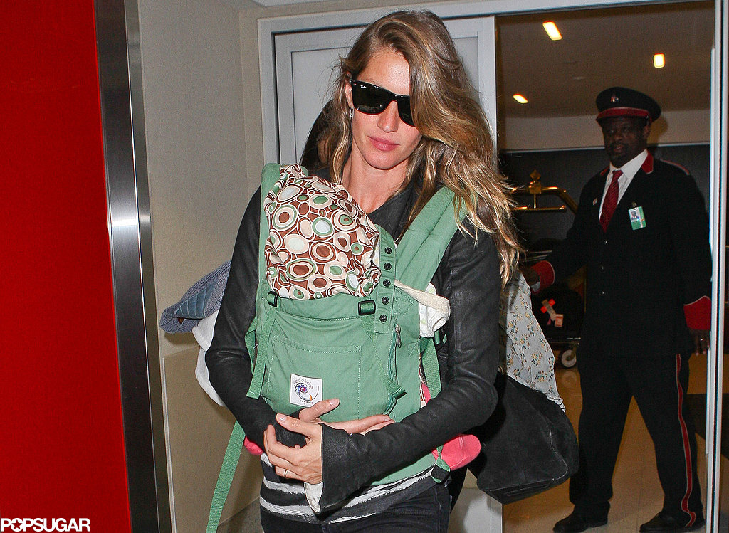 Gisele and Vivian Catch a Flight Out of LA While Tom Begins Training