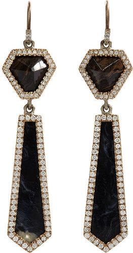 Monique Péan Stromatolite, Peruvian Opal & Diamond Earrings