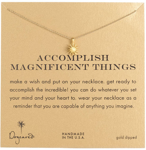 Dogeared 'Accomplish Magnificent Things' Pendant Necklace