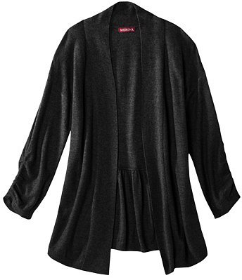 Merona® Women's Open Front Shirred Sleeve Cardigan Sweater - Assorted Colors