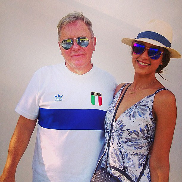 Jessica Alba got to meet New Order's Bernard Sumner at Coachella. Source: Instagram user jessicaalba