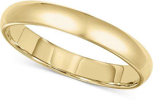 Macy's Men's 14k Gold Ring, 3mm Comfort Fit Wedding Band