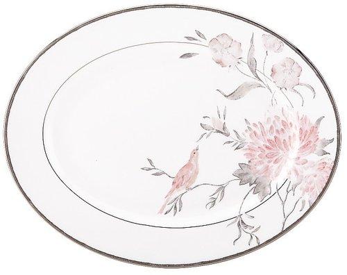 "Marchesa by Lenox ""Spring Lark"" Oval Platter, 13"""