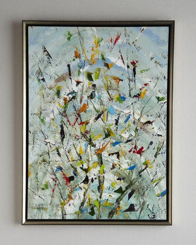 "John-Richard Collection ""The Confetti Garden"" Jinlu Oil Painting"
